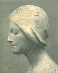 Bust, George Frampton, early 1900s.