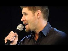 jus in bello con 2013: jensen on dean's voice being lower than his own - YouTube