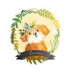 Custom Pet Portrait, Custom pet illustration, Pet gift