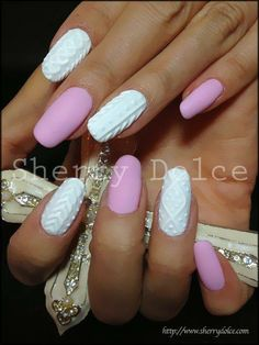 """Textured nails by """"Amazing Nail Art"""""""