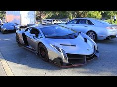 The $4.5 Million Lamborghini Veneno driving in California - YouTube