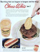 Kraft Cheez Whiz 1956 Ad Picture