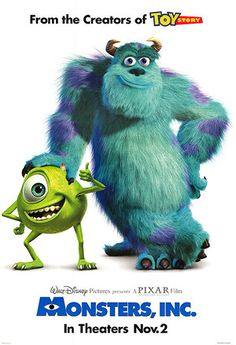 Monster's Inc (2001) #animated #movie #favorites #pixar