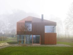 Modern House covered by wood