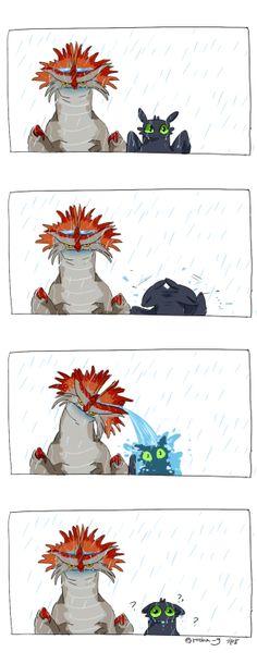비오는날에 클점과 투슬리수ㅜ