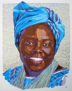 Peace Portrait Three: Wangari Maathai