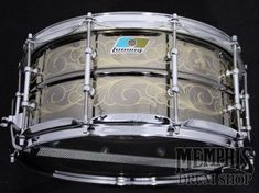 Ludwig 100th Anniversary 14 x 6.5 Black Beauty Engraved Snare Drum - Blemished