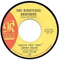45 record with single on one side and another single on the other (love those Righteous Brothers!)