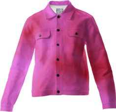 pink and red cloud art jacket / This Twilljacket is a custom Design Object, powered by PrintAllOver.Me