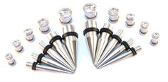 bOdfx BLING Intermediate Ear Stretching kit. All Stainless tapers + Tunnels. 6G-00G