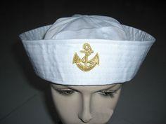Cute Yacht Captain Skipper Boat Cap Hat Adult Marine White Sailor Navy Hat Cap #Others $2.50 each...