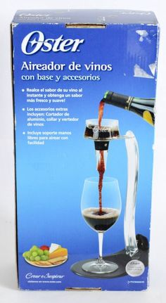 #onsalenow #ebay Oster FPSTBW0015 Wine Aerator with Stand and Accessories #Oster http://www.ebay.com/itm/Oster-FPSTBW0015-Wine-Aerator-with-Stand-and-Accessories-/321739238686?roken=cUgayN&soutkn=9Njh7V
