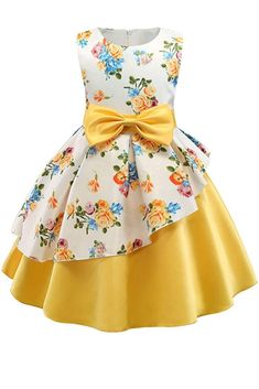 Daily Deals For Moms Daily Deals For Moms,Products Toddler / Kid Floral Print Bowknot Belted Ruffled Party dress There are images of the best DIY designs in the world. Kids Frocks, Frocks For Girls, Gowns For Girls, Dresses Kids Girl, Girls Party Dress, Birthday Dresses, Kids Outfits, Party Dresses, Girls Pants