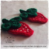 free #crochet pattern: strawberry applique