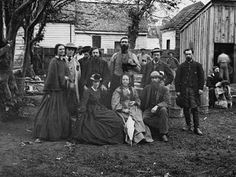 What Was the Sanitary Commission and Its Importance in the Civil War?: Nurses and officers of the U. Picture taken in May of 1864 at Fredericksburg, Virginia. American Revolutionary War, American Civil War, American History, World War I, World History, Battle Of Fredericksburg, Fredericksburg Virginia, Take Shelter, Union Army