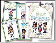 Free Posters...Friendly Behavior Reminders