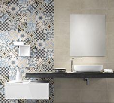 azulejos bano on line Budget Bathroom, Small Bathroom, Modern Bathrooms, Engineered Timber Flooring, Tropical Bathroom, Feature Tiles, Outdoor Flooring, Tile Patterns, Bathroom Furniture