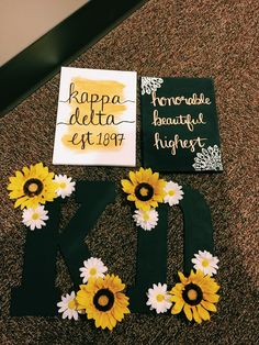 kappa delta canvas and letters for big little reveal
