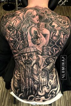 Chicano done yesterday with brother 🙌 Tattoos Torso, Chicano Tattoos Sleeve, Chicano Style Tattoo, Tattoos Skull, Bad Tattoos, Tatoos, Chicanas Tattoo, Clown Tattoo, Creepy Tattoos