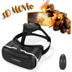 Hot VR Shinecon 2.0 Virtual Reality Glasses helmet VR Box 3D Glasses Headset Cardboard For 4.0-6.0 inch android ios smartphone