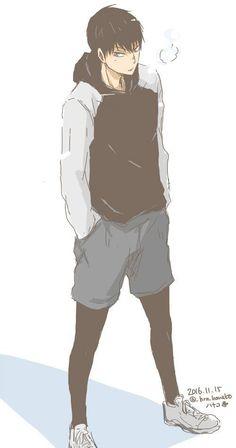 Kageyama is so handsommeeee ❤ - haikyuu kageyama tobio fashion blueberry Haikyuu Kageyama, Hinata, Manga Haikyuu, Haikyuu Fanart, Kagehina, Kenma, Kuroo, Anime Boys, Manga Anime