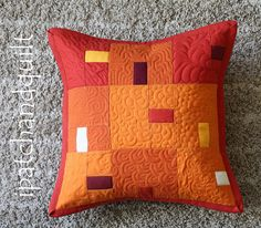 2013-07-31-orange pillow 00 by esthersipatchandquilt, via Flickr I love the free motion quilting!
