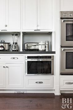 p/work-cook-kitchen-tour-cupboards-small-appliances - The world's most private search engine Appliance Cabinet, Kitchen Appliance Storage, Kitchen Shelves, Kitchen Cabinets, Cupboards, Kitchen Organization, Kitchen Board, Storage Organization, Storage Ideas