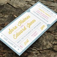 Admission Ticket Wedding Invitation - 'Just the Ticket' Design - One Sample