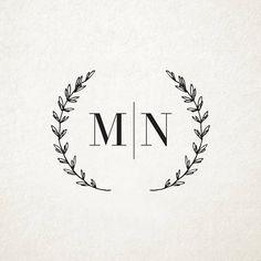 Custom Rustic Wedding Monogram Design Custom Wedding Logo