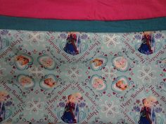 Custom Handmade Disney's Frozen Pillowcase. Anna Elsa & Olaf. Standard Pillow Size and Washable! by MissAmandaMadeIt4Me on Etsy
