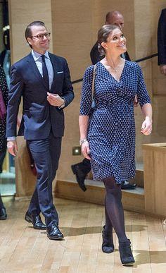 Crown Princess Victoria of Sweden and Prince Daniel of Sweden visit Varmland on November 18, 2015 in Varmland, Sweden.