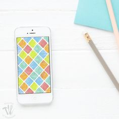 Download These Free Digital Backgrounds For Your Smartphone Or Computer Watercolor Tiles Are The Perfect