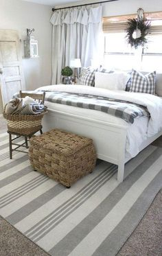Discover best rustic farmhouse bedroom decor ideas and design tips. Ideas of farmhouse bedroom decorating ideas. Bedroom Most Wonderful Ru. Farmhouse Master Bedroom, Master Bedroom Makeover, Master Bedroom Design, Home Decor Bedroom, Bedroom Ideas, Bedroom Furniture, Budget Bedroom, Modern Bedroom, Master Bedrooms