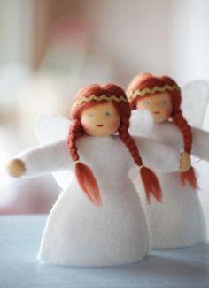 Waldorf angel dolls