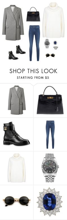 """""""Без названия #3613"""" by newyorkstylrer ❤ liked on Polyvore featuring Calvin Klein 205W39NYC, Hermès, Louis Vuitton, Calvin Klein Jeans, Chloé, Rolex, Tiffany & Co. and Other"""