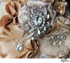 Wedding brooch bouquet Bridal Bouquet handmade by VioGemini