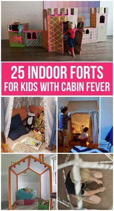 Amazing indoor forts | If your kids are stuck inside this winter (or anytime) try building one of these amazing indoor forts!