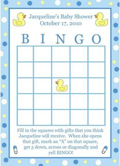 popular baby shower games