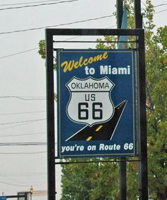 Miami OK - My-am-uh as they pronounce it. Old Route 66, Route 66 Road Trip, Historic Route 66, Travel Route, Road Routes, Sea To Shining Sea, Roadside Attractions, Historical Photos, Miami Oklahoma