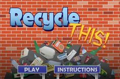 Play Recycle THIS! game to show kids what can be recycled and if a recyclable item go to the landfill it show how long it lasts in the landfill compared to items that belong there. Recycling Games, Recycling For Kids, Diy Recycling, Science Classroom, Teaching Science, Teaching Tools, Classroom Ideas, Learning Sites, Kids Learning
