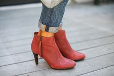 Red Lani Booties — The Fox and She @johnstonmurphy @Stylelist #ootd #falloutfitideas