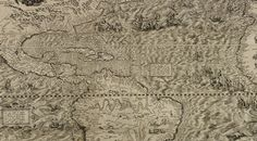 In 1562, Spanish chartmaker Diego Gutiérrez and Dutch engraver Hieronymous Cock made such an attempt. They visualized the New World in a massive six-paneled engraved map—the largest engraved map of America of its time. Published in Antwerp, Americae sive quarte orbis partis nova et exactissima, Latin for The Americas, or A New and Precise Description of the Fourth Part of the World, served as artwork, informational chart, and political document.