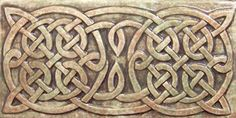 Relief carved Celtic ceramic art tile border by earthsongtiles, $15.95