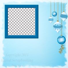 "Layout QP 20.....Quick Page, Blue, Digital Scrapbooking, Christmas Time Collection, 12"" x 12"", 300 dpi, PNG File Format"