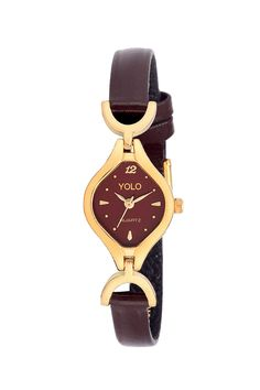 YOLO Women Maroon Dial Analog Wrist Watch with Black Leather Strap Is A Unique And Innovative Product In The Wrist Watches Market. This Amazing, Stylish Fashion Watch Has Arrived To Complement Your Look And Attitude.