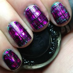 Nails by an OPI Addict: Plaid Foils!