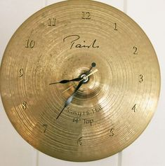 Cymbal Wall Clock Drummer Gifts Recycled Cymbal Paiste Cymbal Unique Wall Clocks