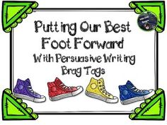 It's so frustrating when you conference with students after a fantastic mini-lesson and you see no evidence of them applying the learning, isn't it? This product, by Wild Child Designs, motivates students to do just that. It includes 16 colored brag tags that detail SPECIFIC WRITING TARGETS for writing persuasive writing pieces.