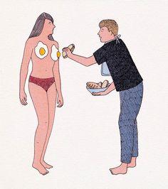 O trabalho da artista francesa Marion Fayolle é um contraste entre traços inocentes e cenas eróticas. Confira!