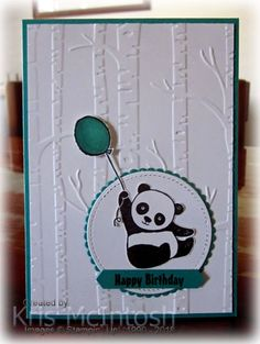 My great nephew turned 1 recently and this gave me the opportunity to play with the Party Pandas stamp set which is one of the sets you can earn for free during Sale-A-Bration. I was actually a li…